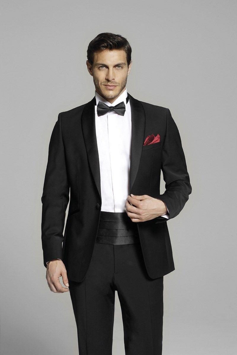 Smoking David en laine noire de chez Herve Mariage Costume Homme 7225f35a7f3