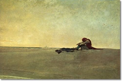 Howard Pyle Master Illustrator -- Marooned Painting