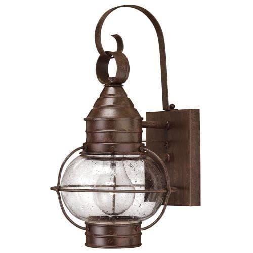 Hinkley lighting h2206 14 height 1 light lantern outdoor wall sconce from the cape cod collection