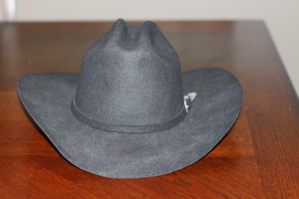 76ae5816ee2 Ranger by Car Lop 5X Black Wool Cowboy Hat Sz 7.5