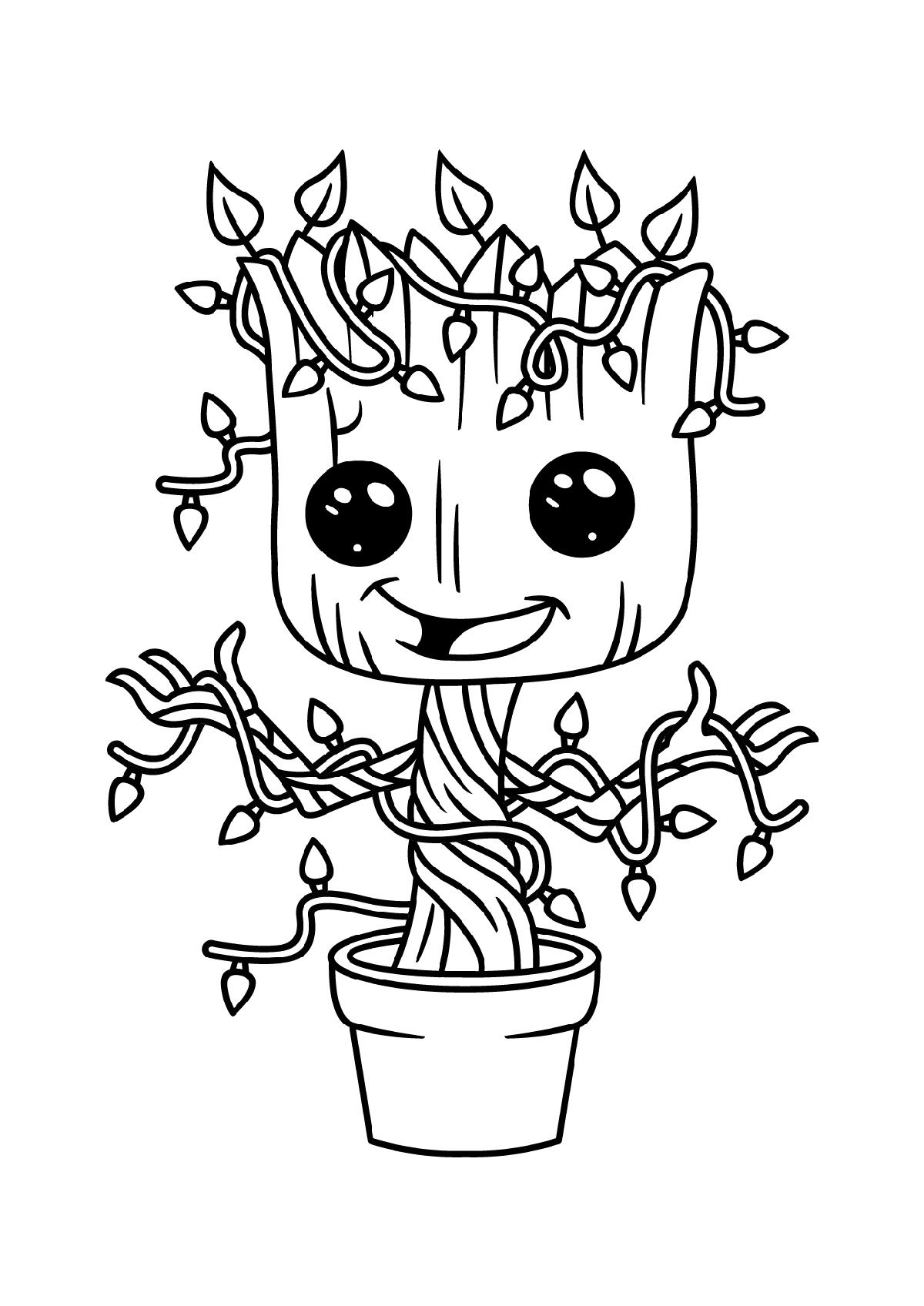 Baby Groot Coloring Page Avengers coloring pages