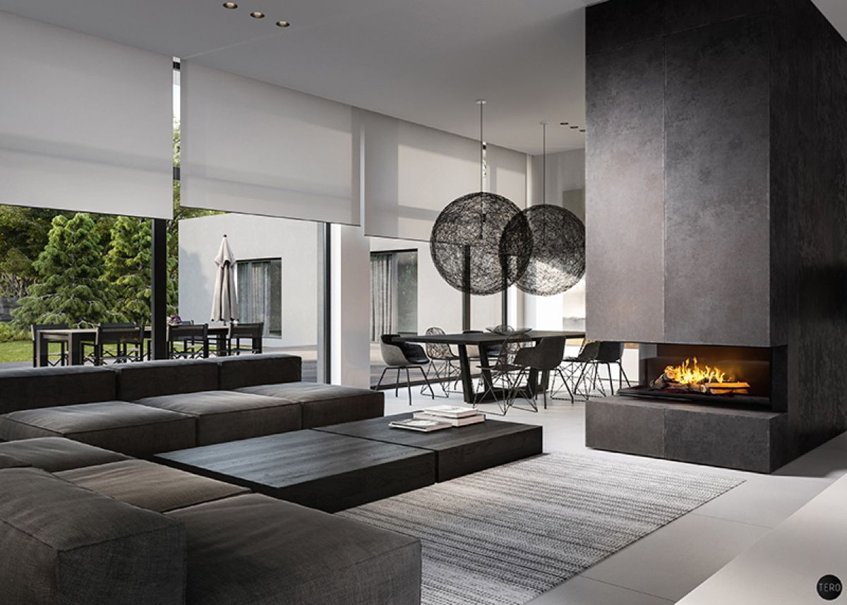 Three black and white interiors that ooze class | Nappali ...