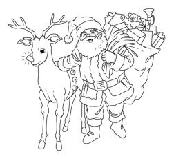 Download Santa S Reindeer Coloring Pages Free Or Print Santa S