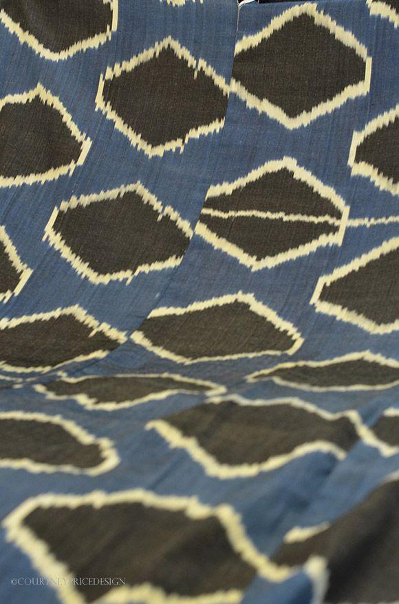 silk ikat, Madeline Weinrib fabric