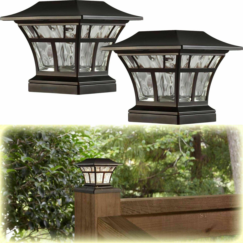 2 Pack Bronze Solar Led Deck Post Cap Light 4x4 6x6 Outdoor Garden Lighting 59 1000 Outdoor Lighting Design Best Solar Lights Outdoor Garden Lighting