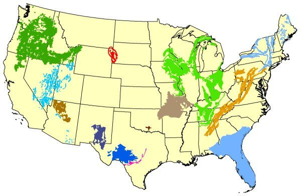 Principal Karst Aquifers Of The United States Map Of The United - Us map showing regions