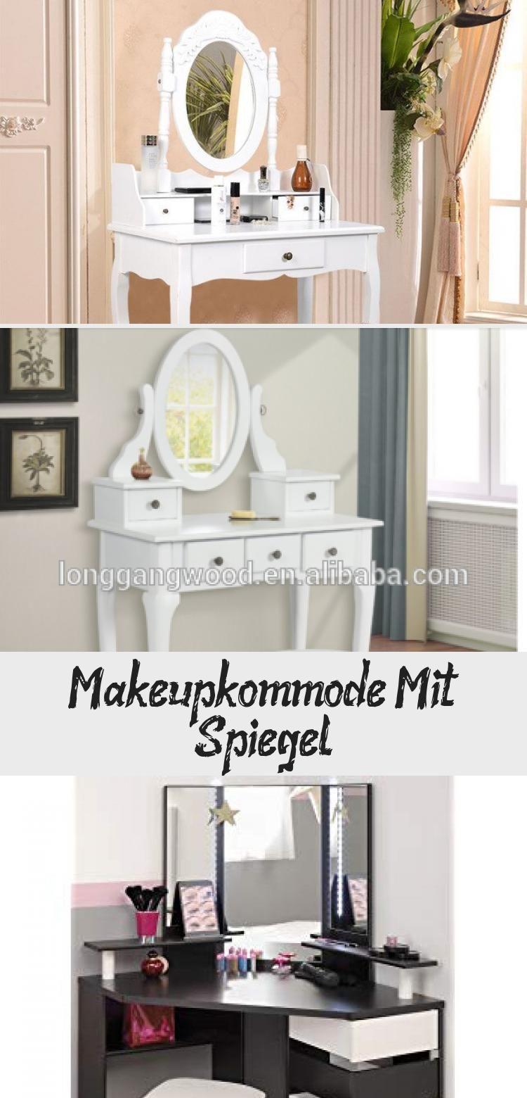 Make Upkommode Mit Spiegel Holz Modernen Schminktisch Make Up