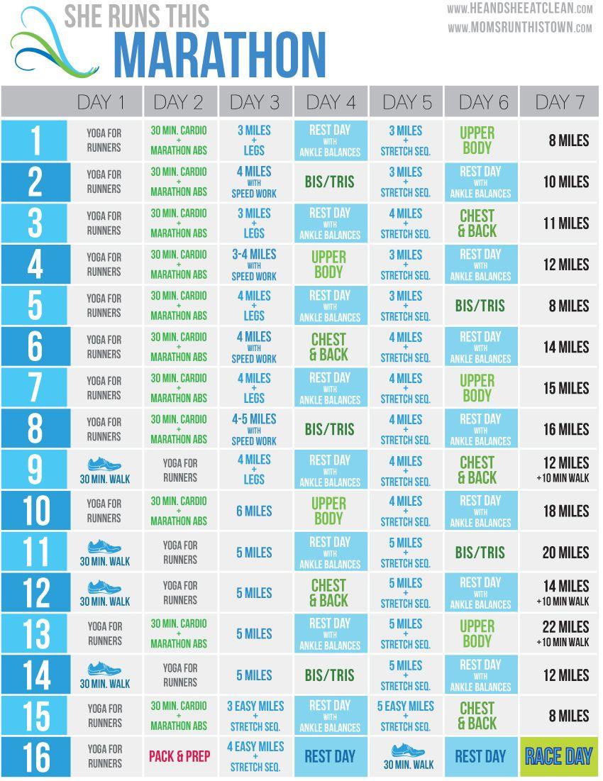 She Runs This Marathon FREE Training Calendar