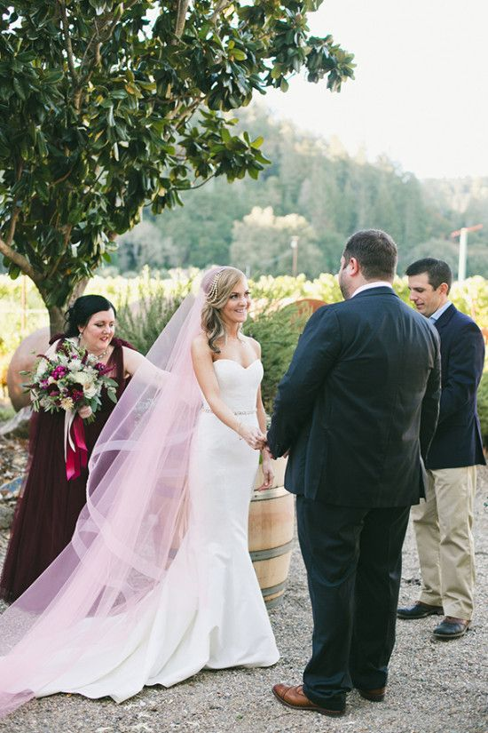 Napa Valley Elegant Blush And Pink Wedding Wedding Dress With Veil Pink Wedding Wedding