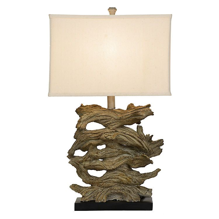 Stacked driftwood table lamp kirklands