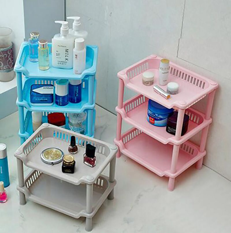 Convenient Square Bathroom Shelf Storage Rack, Plastic Toilet ...