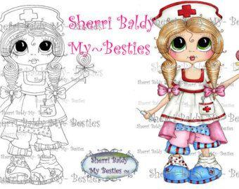 INSTANTÁNEA descargar Digi sellos ojo grande Big Head Dolls Digi IMG933 por Sherri Baldy