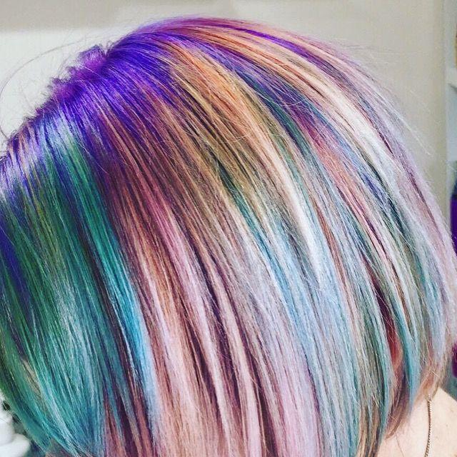 Unicorn Hair done by Get Scissored - Brisbane #unicornhair #unicorn #hair