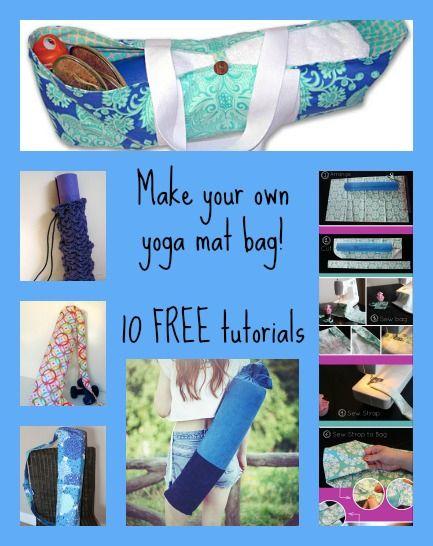 10 free yoga mat bag tutorials | sewing | Pinterest | Yoga, Taschen ...