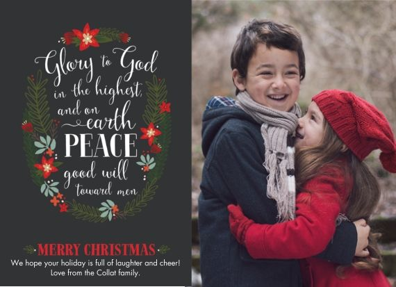 glory to god christmas card by cpaperie for snapfish - Snapfish Christmas Cards