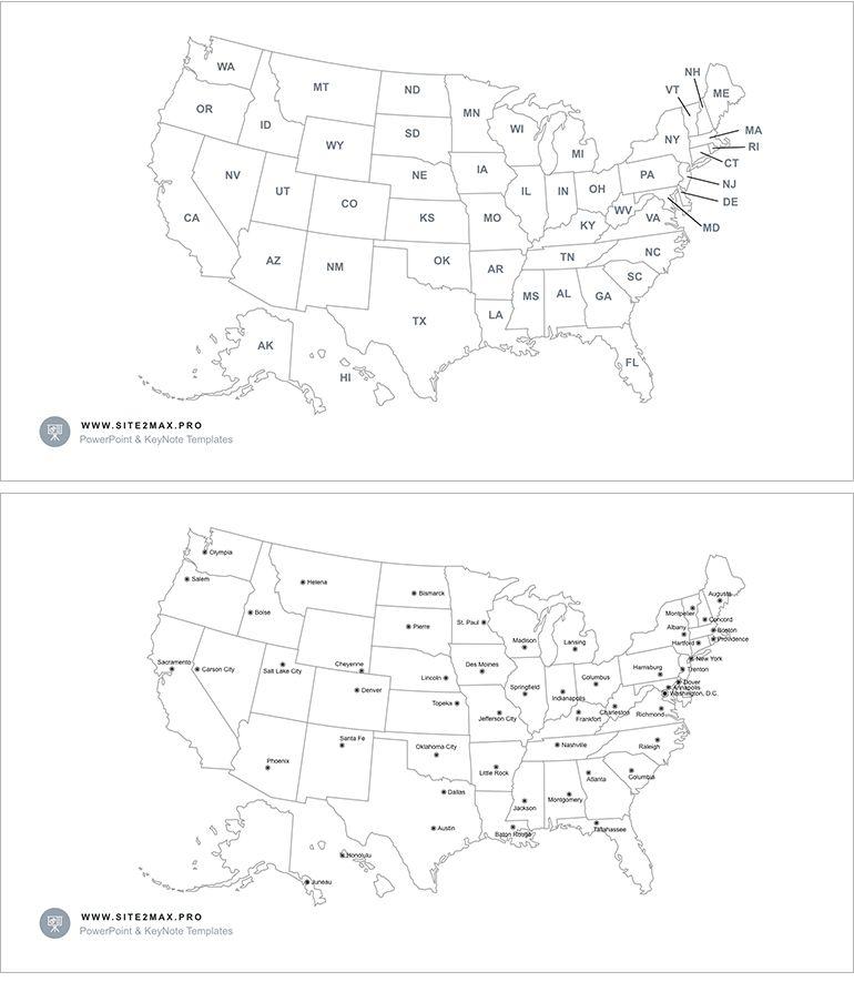 Usa Map Ppt
