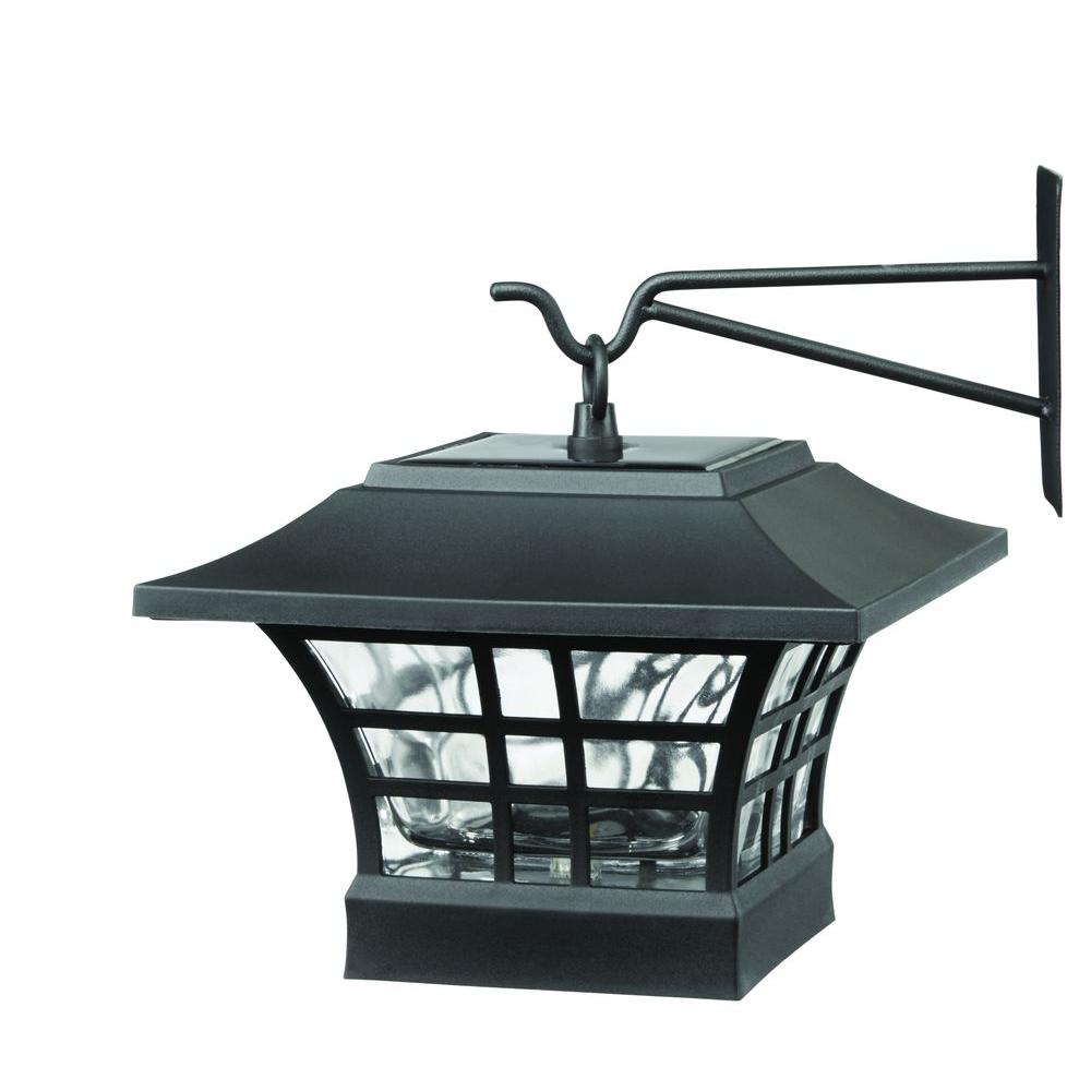 Yow Solar Black Led Deck Post With Plastic Cage And Glass Lens 2 Pack Deck Posts Deck Lighting Outdoor Lamp Posts