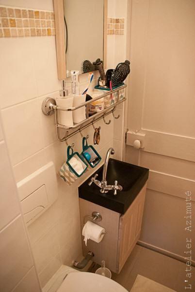 Coaching déco} Une mini salle de bains, avant-après | Kupatilo ...