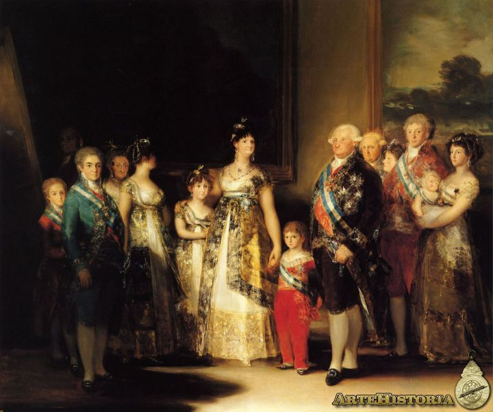 Carlos Iv De España Con Su Familia Obra Artehistoria V2 Francisco Goya Goya Paintings Francisco Goya Paintings