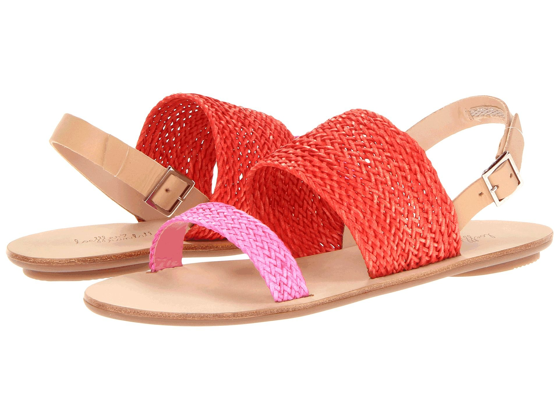 Red And Bubble Gum Pink Sandals Sandals Summer Trending