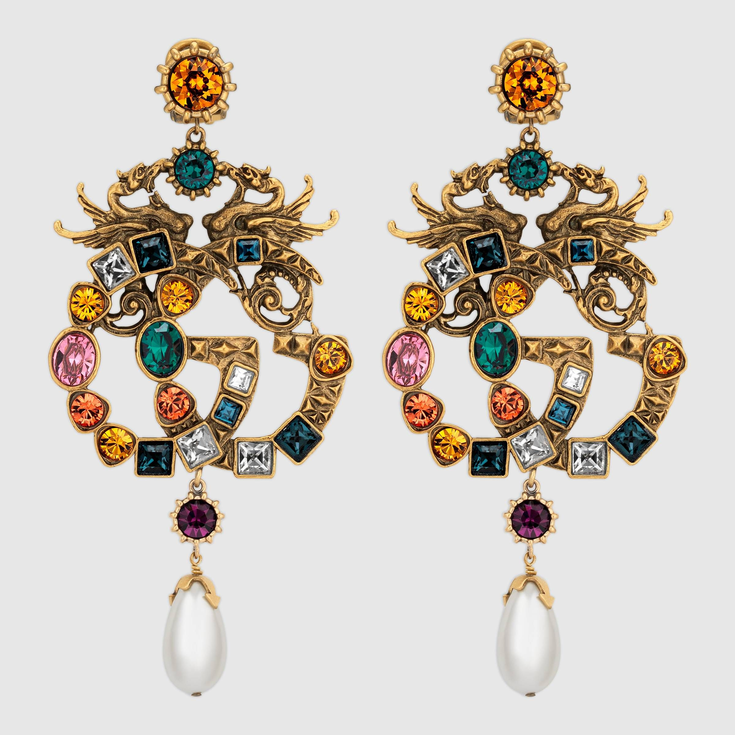 6e4bde57d1 Crystal Double G earrings | Accessories | Gucci jewelry, Jewelry ...