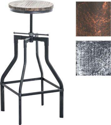 Metall-Barhocker SWANSEA, Holzsitz, Industrial Look ...