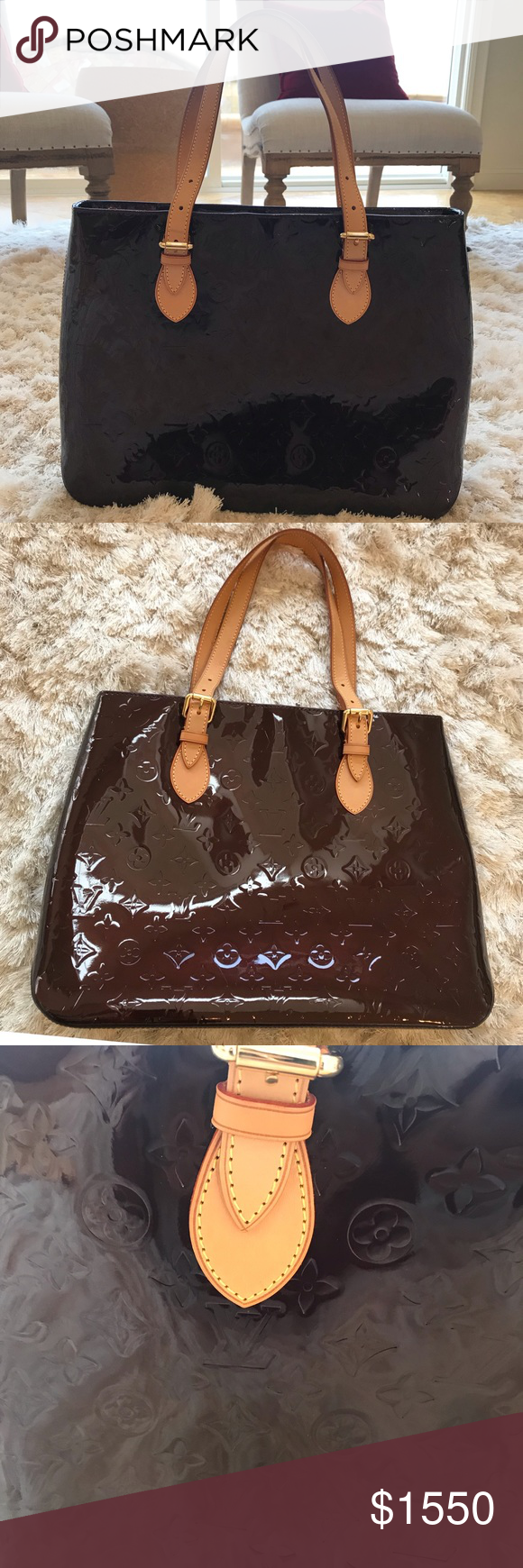 93ef487ee7e6 Spotted while shopping on Poshmark  LV Louis Vuitton Vernis Brentwood  Monogram Bag!  poshmark  fashion  shopping  style  Louis Vuitton  Handbags