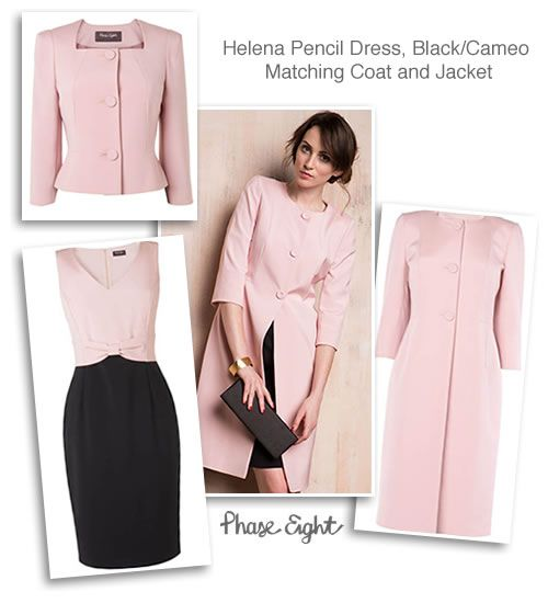 Pink Black Ottoman Dress Coat and Longline Occasion Jacket ...