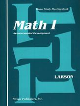 Saxon Math 1 - Table of Contents and Scope & Sequence