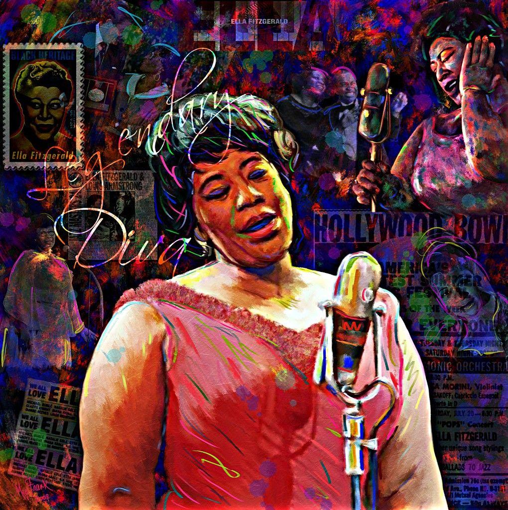 Ella Fitzgerald Songs Google Search Ella Fitzgerald Jazz Poster Corel Painter