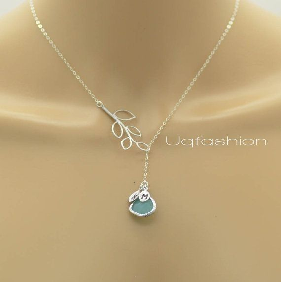 Initial Jewelry, Monogram Initial Necklace, Mom Jewelry, Sister Necklace, Best Friends Jewelry, Bridesmaid Jewelry, Lariat, Silver