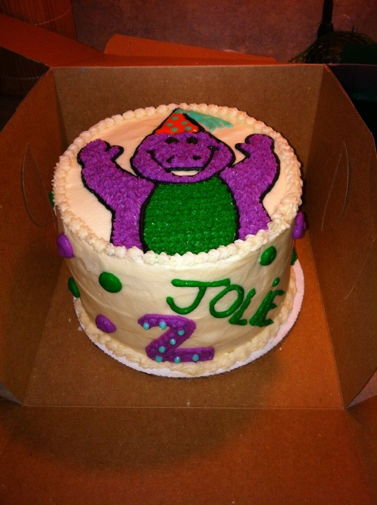 Barney cake from layercakery in Columbus Ohio best cake weve
