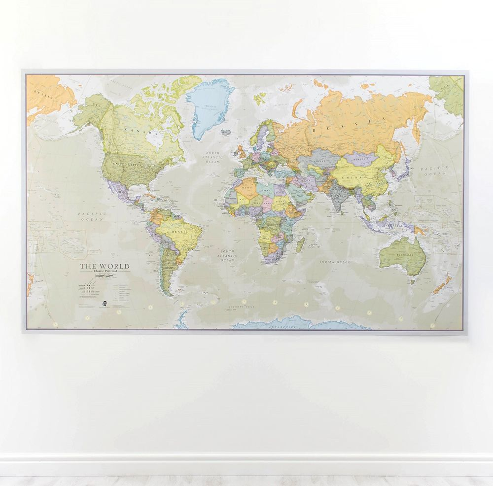 World map poster large classic wall school laminated office home world map poster large classic wall school laminated office home decoration map worldmapposter gumiabroncs Gallery