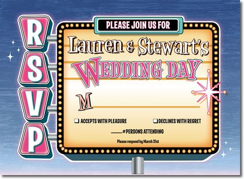 Vintage Las Vegas Style Wedding Rsvp Cards Are Great For A