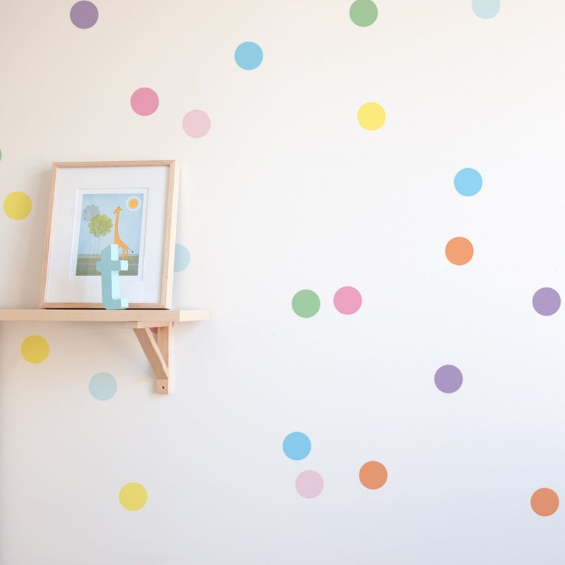 Bight And Colourfull Confetti Wall Sticker Dots Are A Simple Way - Wall decals dots