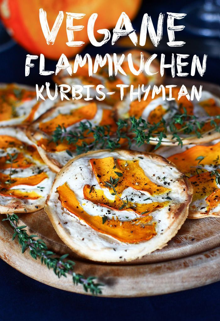 Vegane Kürbis Thymian Flammkuchen Vegane Kürbis Thymian Flammkuchen | Vegan Pumpkin Thyme Tarte Flambé ... -