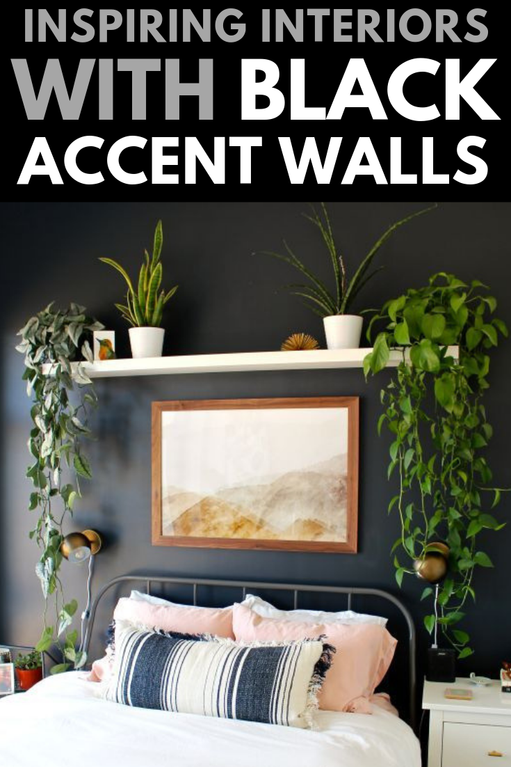 Bold Black Accent Wall Ideas Black Accent Walls Black Accent Wall Living Room Feature Wall Bedroom