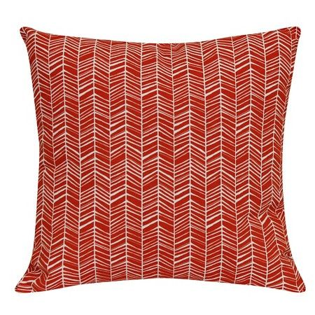 10 Outdoor Pillow Red Herringbone Room Essentials Target