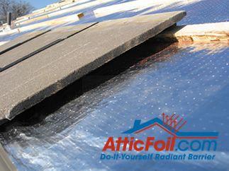 AtticFoil radiant barrier insulation under concrete roof