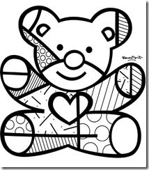 Dibujos Para Pintar De Arte Britto Buscar Con Google Obras De Romero Britto Desenhos Do Romero Britto Desenhos Romero Brito