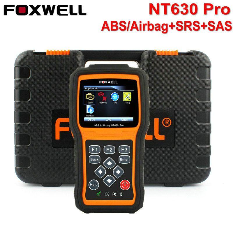 FOXWELL NT630 Elite OBD2 Car Diagnostic Scanner Engine ABS Airbag SRS SAS Reset