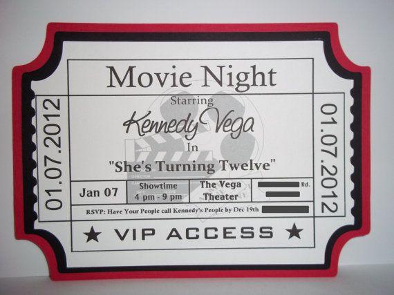Movie Ticket Invitations Template Movie Ticket Birthday Invitations Ideas  Bagvania Free Printable, Free Printable Movie Ticket Invite Video Tutorial  On How ...