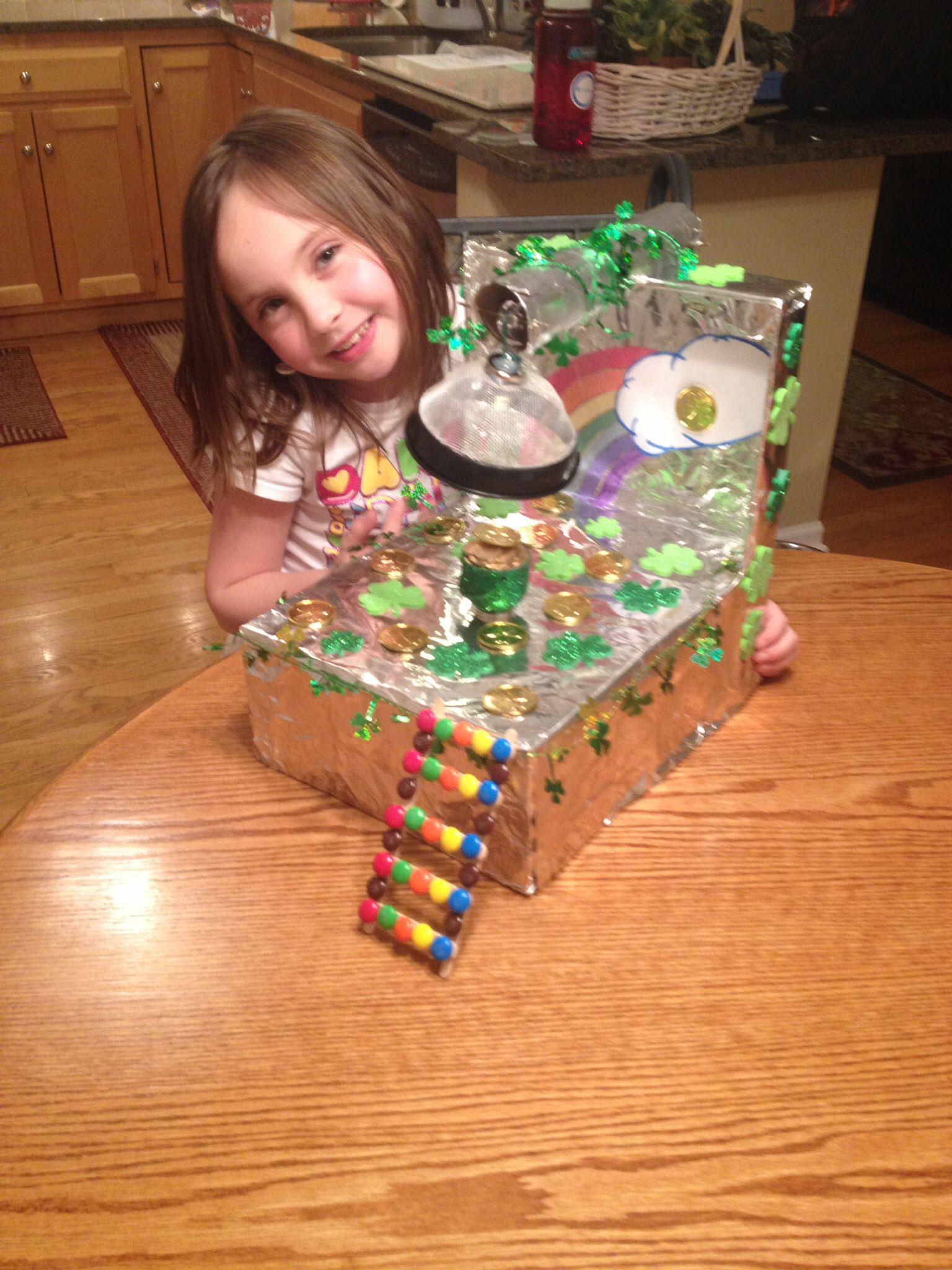 Leprechaun traps ideas for kids shoebox