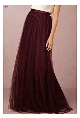 e0b48d0a79c Anthropologie BHLDN Louise Tulle Skirt Jenny Yoo Cabernet Sz 2 Retails for   220