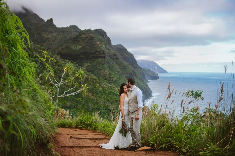 Kauai Hawaii Napali Coast Wedding Photographer Hanakapiai Kalalau Trail