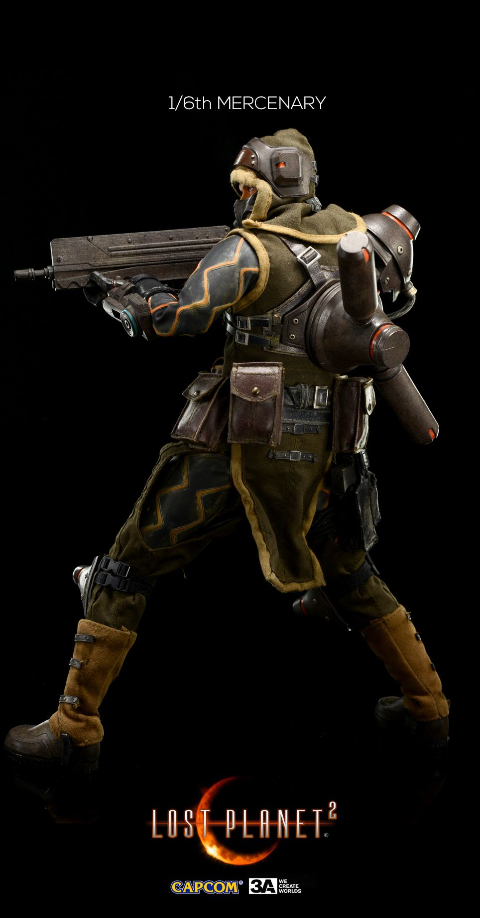 1 6th Scale Mercenary From Lost Planet 2 Will Go Up On Pre Order On June 22nd 9 00am Hong Kong Time At Www Capcom Post Apocalyptic Fashion Apocalyptic Fashion