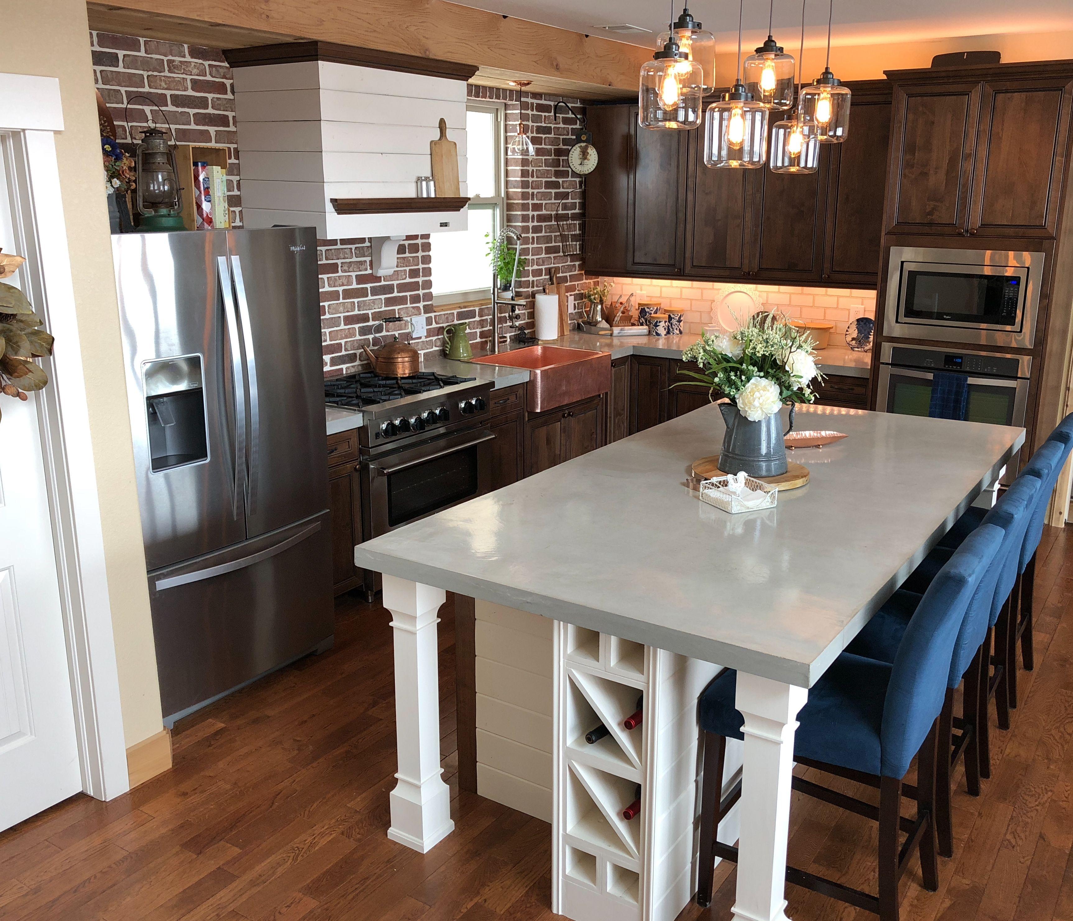 Diy Concrete Countertops Kitchen Remodel Countertops Kitchen