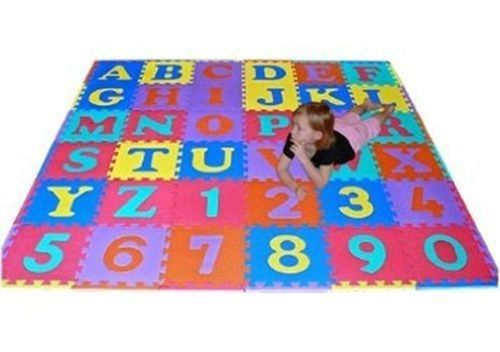 Abc Alphabet Number Fun Kids Foam Squares Puzzle Play Mat Letters Learning Baby Church Nursery Decor Church Nursery Kid Room Decor