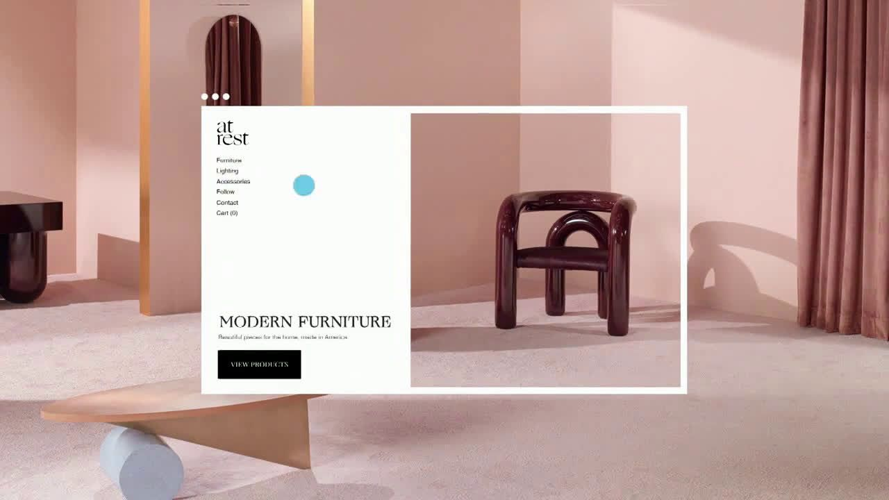 Squarespace modern furniture ad commercial on tv 2019