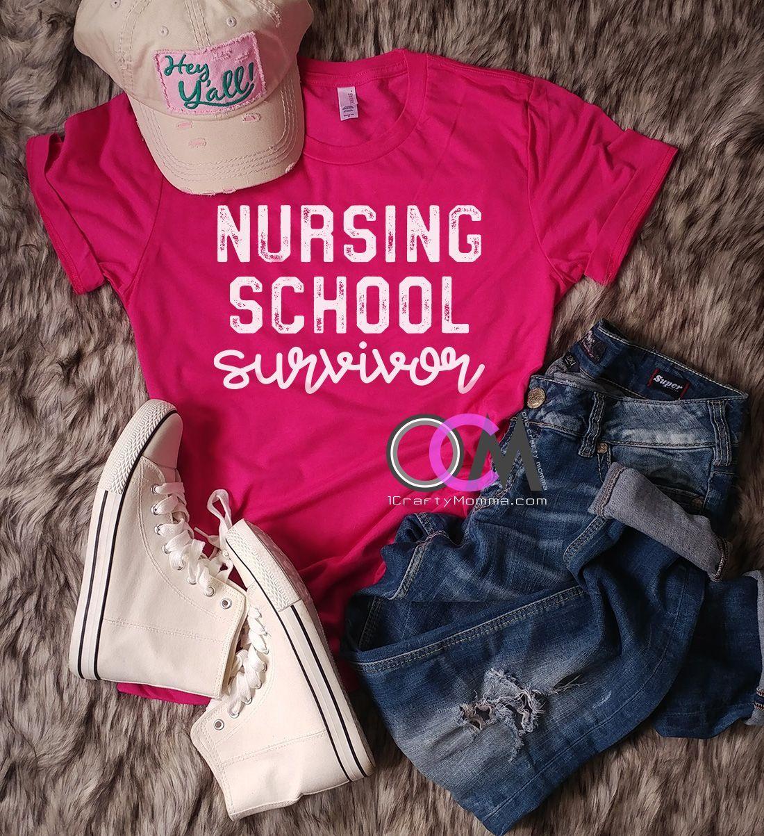 Nursing school survivor shirt nursing school tshirt